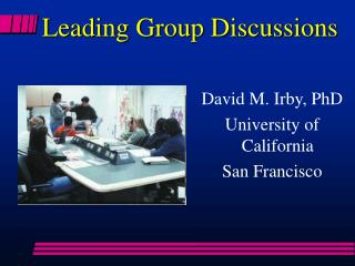 Leading Group Discussions