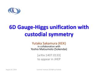 6D Gauge-Higgs unification with custodial symmetry