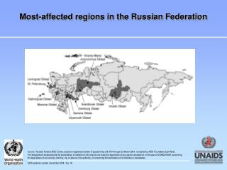 Most-affected regions in the Russian Federation