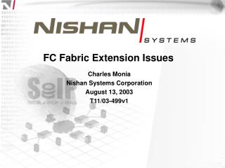 FC Fabric Extension Issues