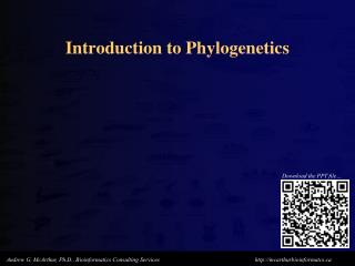 Introduction to Phylogenetics