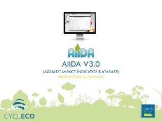 AiiDA  v3.0 ( Aquatic Impact Indicator Database ) presentation & training