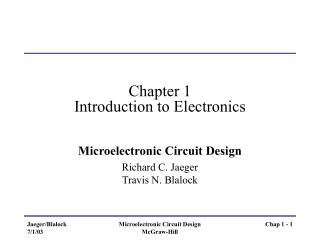 Chapter 1 Introduction to Electronics