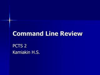 Command Line Review