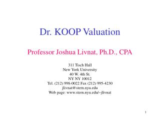 Dr. KOOP Valuation
