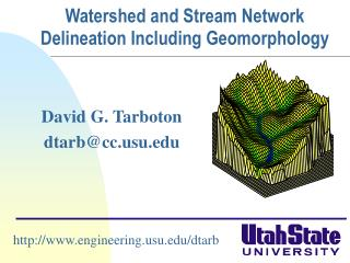 Watershed and Stream Network Delineation Including Geomorphology