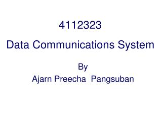 4112323 Data Communications System