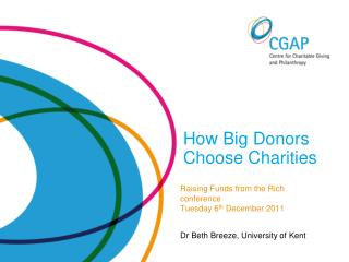 How Big Donors  Choose Charities