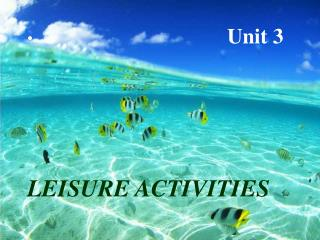 Unit 3 LEISURE ACTIVITIES