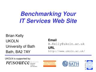 Benchmarking Your  IT Services Web Site