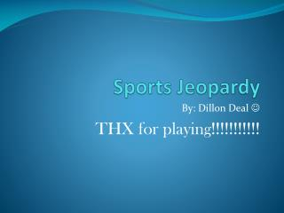 Sports Jeopardy