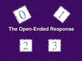 The Open-Ended Response