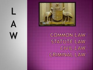 Common law statute law civil law criminal law