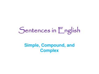 Sentences in English