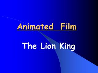 Animated  Film