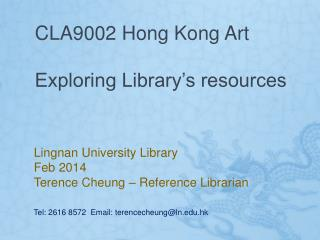 CLA9002 Hong Kong Art Exploring Library's resources