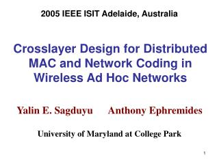 Crosslayer Design for Distributed MAC and Network Coding in Wireless Ad Hoc Networks
