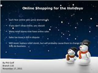 Online Shopping for the Holidays