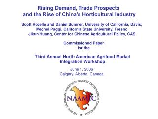 Third Annual North American Agrifood Market Integration Workshop