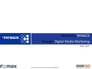 Marketing PAYBACK through Digital Media Marketing