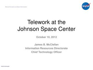 Telework at the Johnson Space Center