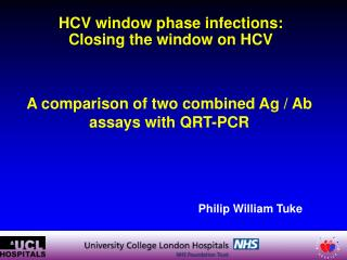 HCV window phase infections: Closing the window on HCV