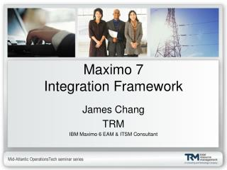 Maximo 7 Integration Framework