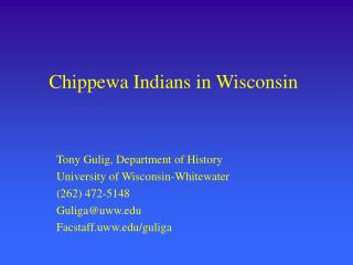 Chippewa Indians in Wisconsin