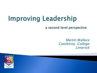 Improving Leadership  a second level perspective