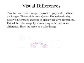 Visual Differences