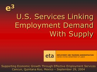 U.S. Services Linking Employment Demand With Supply