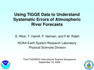 Using TIGGE Data to Understand Systematic Errors of Atmospheric River Forecasts