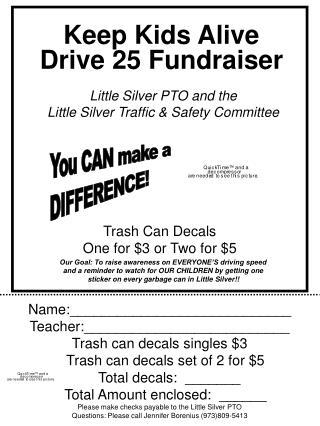 Keep Kids Alive Drive 25 Fundraiser