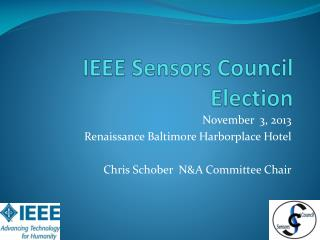 IEEE Sensors Council Election