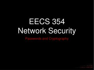 EECS 354 Network Security
