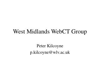 West Midlands WebCT Group