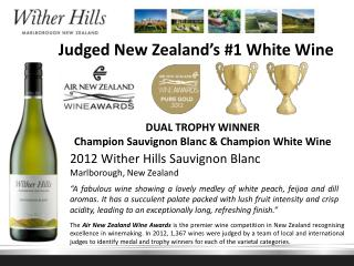 Judged New Zealand's #1 White Wine