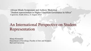 An International Perspective on Student  R epresentation