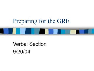 Preparing for the GRE