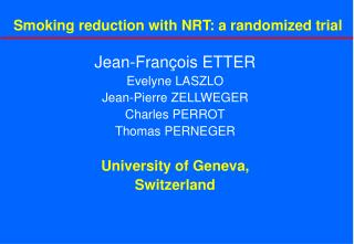 Smoking reduction with NRT: a randomized trial