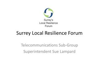 Surrey Local Resilience Forum
