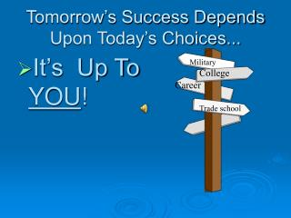 Tomorrow's Success Depends Upon Today's Choices...
