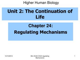 Unit 2: The Continuation of Life