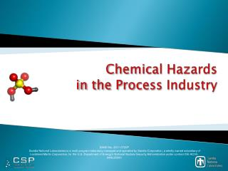 Chemical Hazards  in the Process Industry