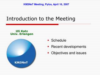 Introduction to the Meeting