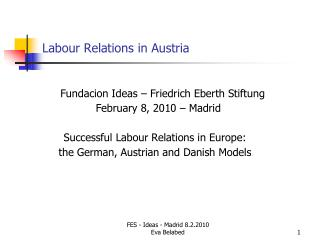 Labour Relations in Austria