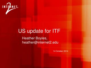 US update for ITF