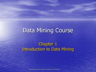 Data Mining Course
