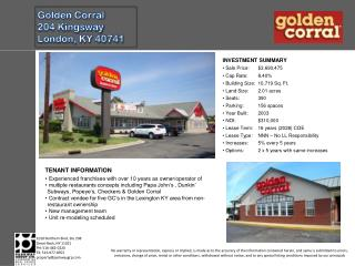 Golden Corral 204 Kingsway London, KY 40741