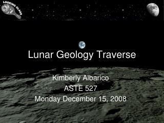 Lunar Geology Traverse